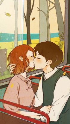 亲吻 情侣 爱情 浪漫 男女
