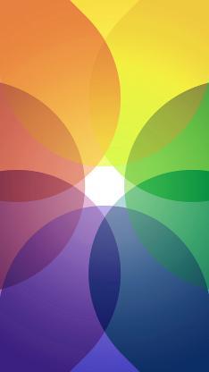 色彩 渐变 七彩 几何