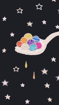星星 勺子 圆球 创意