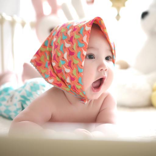 婴儿 艺术照 头巾 可爱