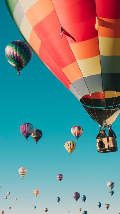热气球 风景 高空 天空