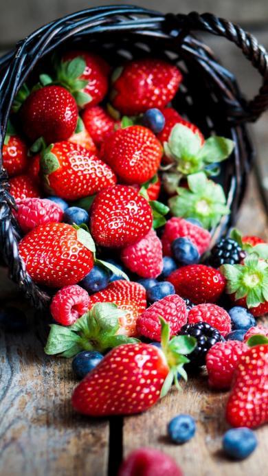 水果 草莓 蓝莓 蔓越莓 营养 新鲜