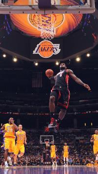 詹姆斯 篮球 NBA 运动 扣篮 球场