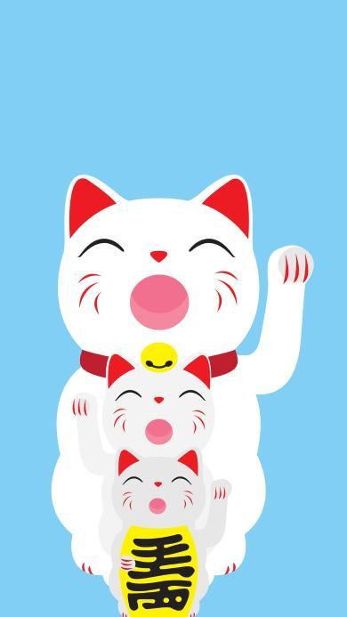 招财猫 卡通 发财 小猫