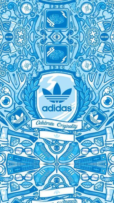 潮牌 嘻哈 蓝色 Adidas