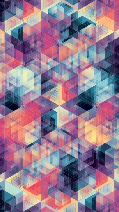 创意 色彩 几何 色块
