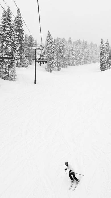 滑雪 雪山 雪地 运动 极限 刺激