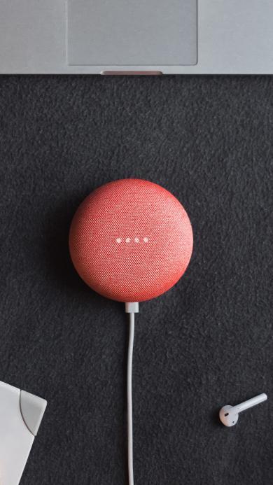 充电宝 圆形 粉色 耳机