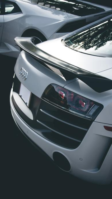 奥迪 Audi 跑车 车尾