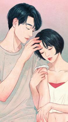 zipcy 韩国插画 男孩 唯美 情侣