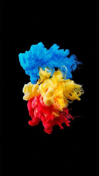 色彩 创意 颜料 红 蓝 黄