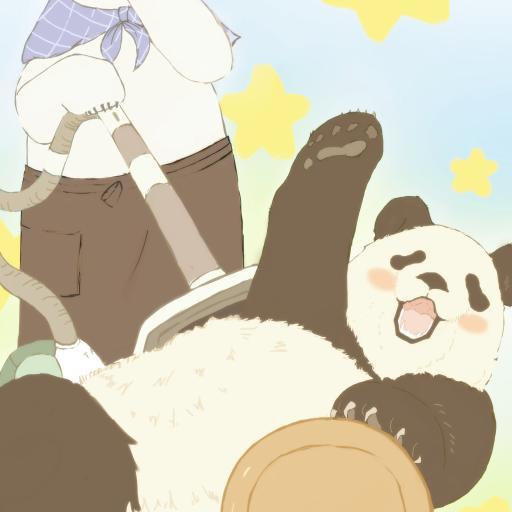 白熊咖啡厅 熊猫 北极熊 可爱 动画