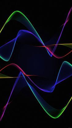 线条 色彩 黑色 空间 抽象