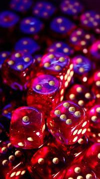 骰子 红色 鲜艳