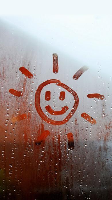 笑脸 创意 寒气 卡通