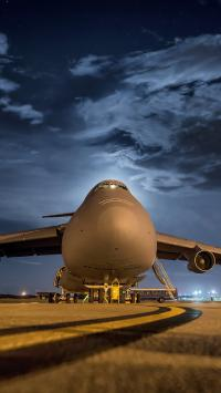 飞机 机场 航空 黑夜