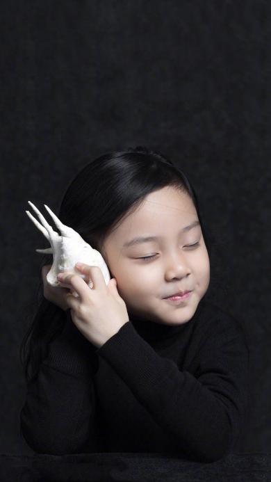 贾云馨 甜馨 可爱 海螺 小女孩