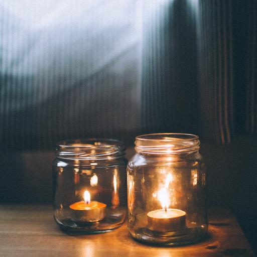 蜡烛 烛火 玻璃瓶 氛围