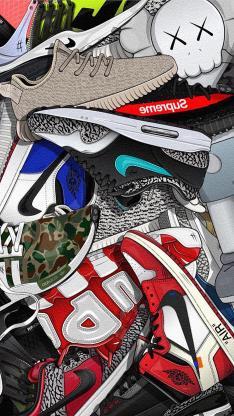 球鞋 运动 耐克 品牌 色彩