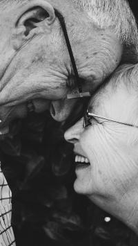 老伴 黑白 亲情 爱情 浪漫 夫妻 老人