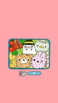 手绘 色彩  饭团 创意