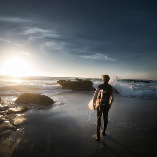冲浪 男 欧美 背影 大海 沙滩 运动