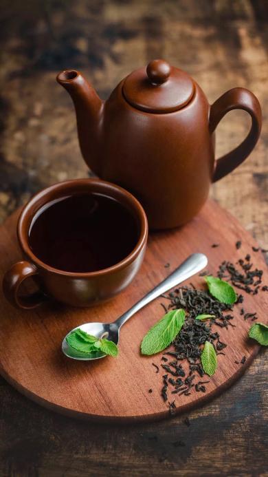 饮品 一杯清茶 茶壶 茶叶