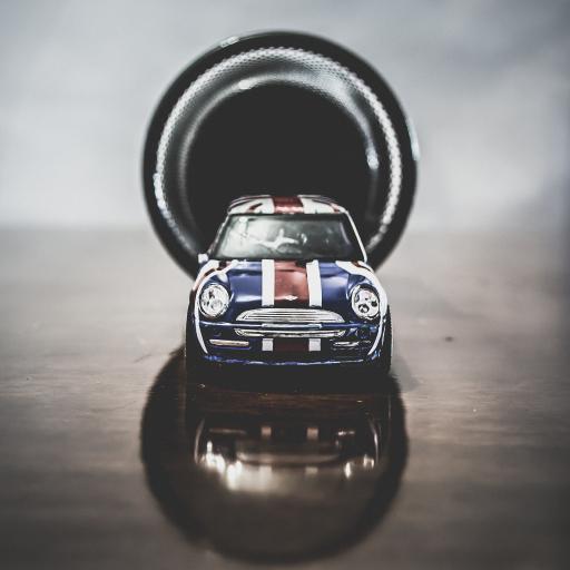 玩具车模 迷你 蓝红