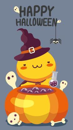 万圣节 happy Halloween 南瓜 魔法