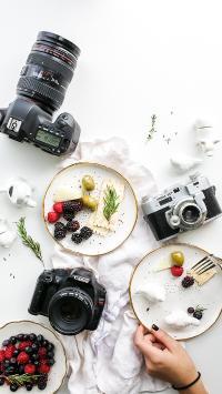 创意 单反 摄像 餐具  俯拍 甜品