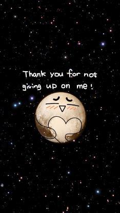 星空 月球 thank you for not giving up on me! 情侣