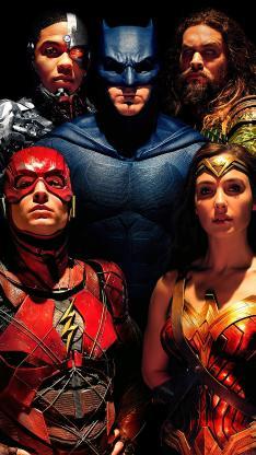 正义联盟 超级英雄 电影 欧美 合照 海报
