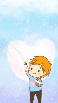 情侣壁纸 男孩 放风筝