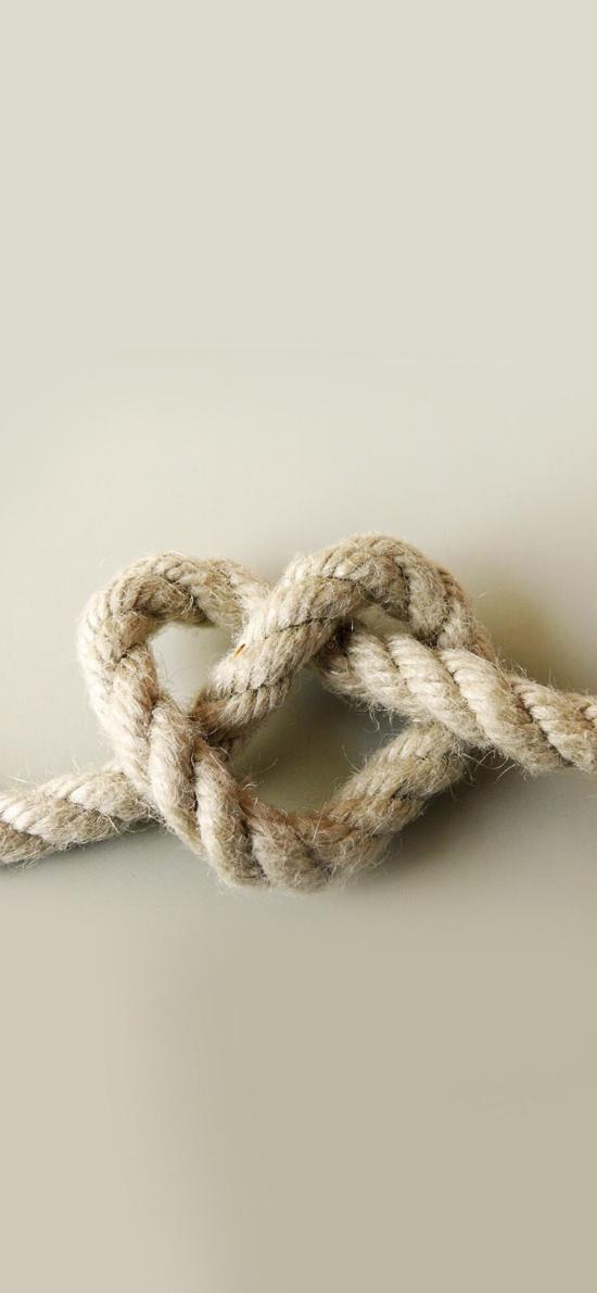 爱心 麻绳  打结 心形