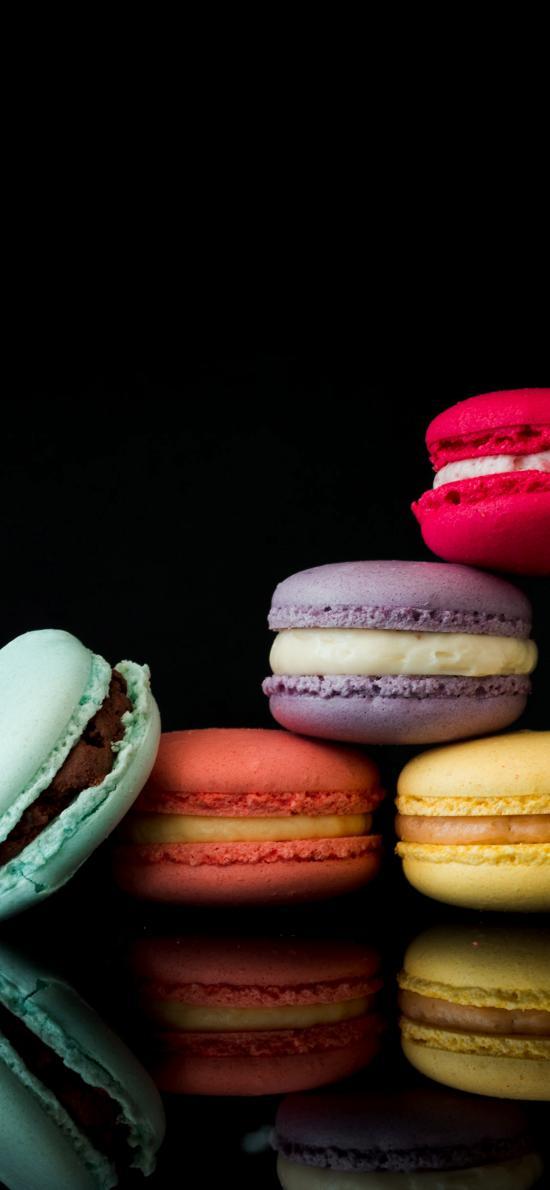 马卡龙 创意 色彩 夹心 甜品