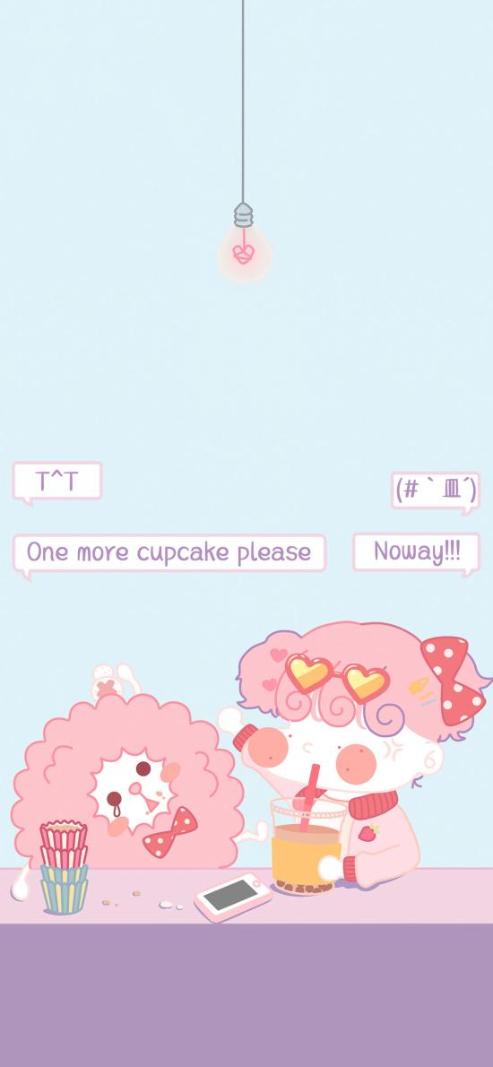卡通女孩 one more cupcake please