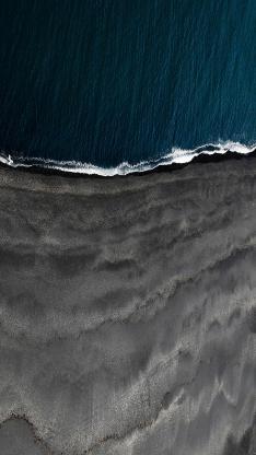 大海 航拍 海浪 海滩 地质