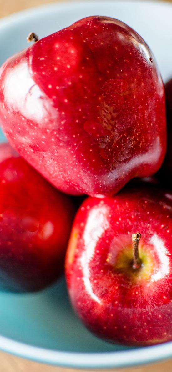 苹果 水果 新鲜 鲜红