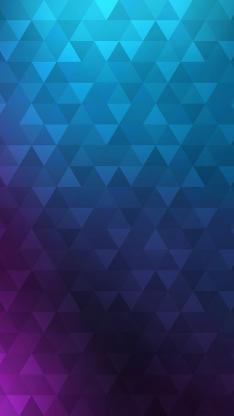 几何 渐变 三角 蓝色