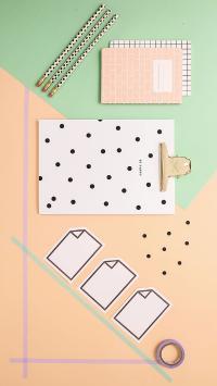 色彩 文具 胶带 文件夹