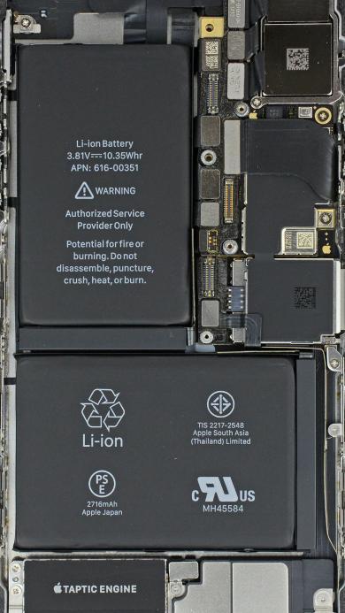 手机 内部 结构 电池 黑色 电子产品