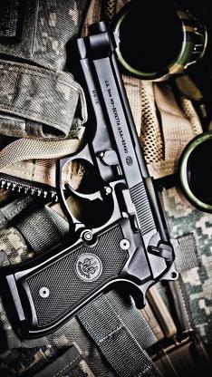 手枪 枪支 军用 武器