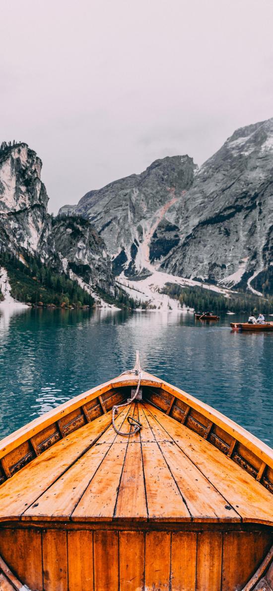 船只 湖泊  山川 自然