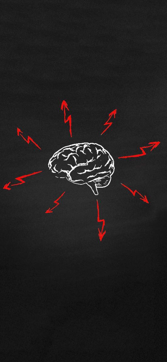 创意 手绘  想象 思考 大脑