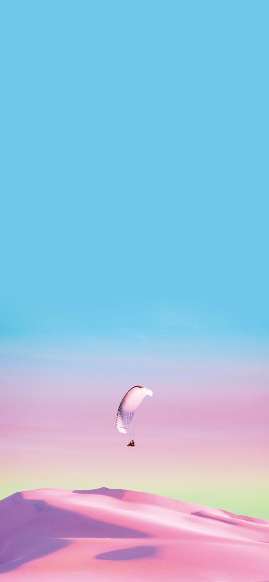 跳伞 极限运动 刺激 渐变 唯美