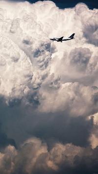 蓝天白云 云层 飞机 飞行