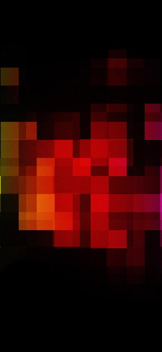 方格 彩色 几何 黑色