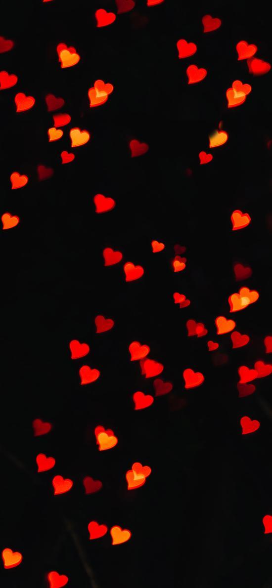 其它 爱心 纯色 虚化 光圈 黑色眩光