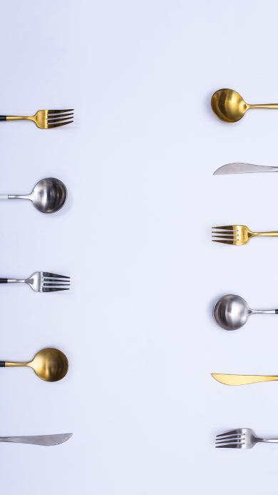 餐具 勺子 叉子 静物