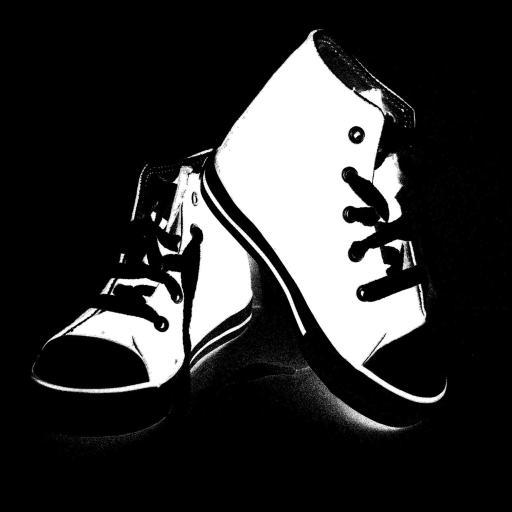 高帮鞋 黑白 创意
